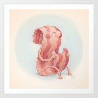Even Bacon Loves Bacon Art Print
