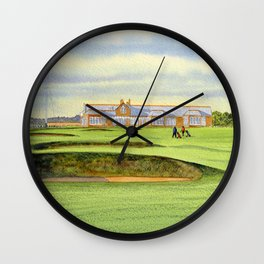 Royal Troon Golf Course 18th And Clubhouse Wall Clock