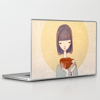 coffee Laptop & iPad Skins featuring coffee by Renia