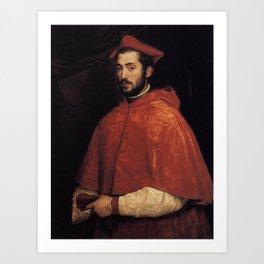 Titian - Ritratto del cardinale Alessandro Farnese Art Print