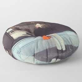 Afternoon in Bruges Floor Pillow