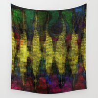 teeth Wall Tapestries featuring Dragon's Teeth by mimulux
