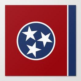 Tennessee: Tennessean Flag Canvas Print