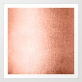 Simply Sweet Peach Coral Shimmer Art Print