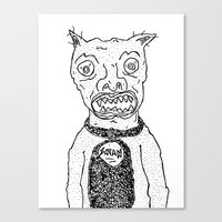 satan Canvas Prints featuring Satan by SECRET EYE