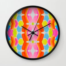 Candy Clouds Pattern Wall Clock