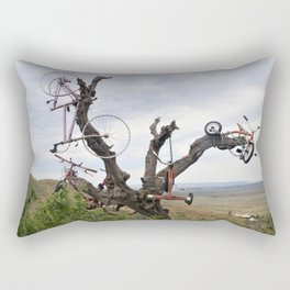 Bikes in Trees in Marfa Rectangular Pillow