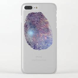 COSMIC TRACE Clear iPhone Case