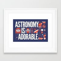 astronomy Framed Art Prints featuring ASTRONOMY IS ... by KOMBOH