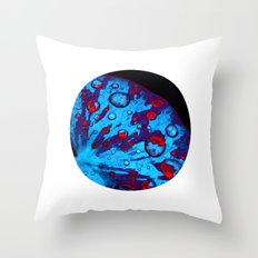 neon lily pad XVI Throw Pillow