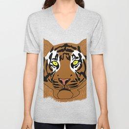 Tiger face Unisex V-Neck