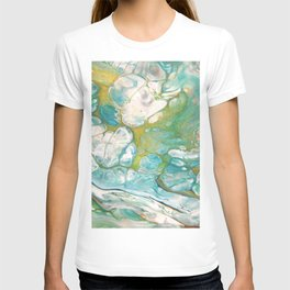 Ice & Gold - Abstract Acrylic Art by Fluid Nature T-shirt