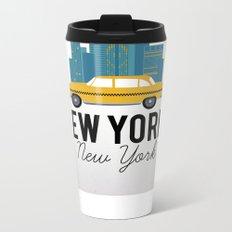 New York, New York Metal Travel Mug