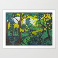 The light and the Forest Art Print