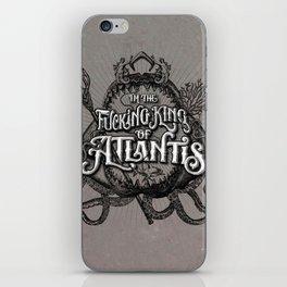 The Fucking King of Atlantis - b&w iPhone Skin