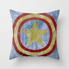 Vintage Capt America Throw Pillow