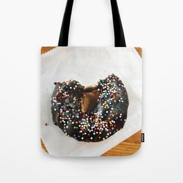 Chocolate donut with sprinkles Tote Bag
