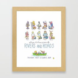 TNS - Rivers and Roads Framed Art Print