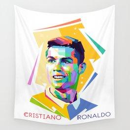 Cristiano Ronaldo In Pop Art Wall Tapestry
