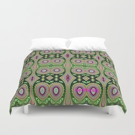 Abstract Colorful Cactus Vibes Repeat Pattern Duvet Cover
