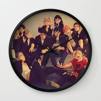 haikyuu Wall Clocks featuring Karasuno by viria