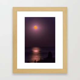 Full Moon High Framed Art Print