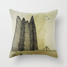 Big Woods Camping Throw Pillow