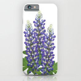 Blue and white lupine flowers iPhone Case