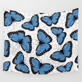Blue morpho butterflies Wall Tapestry