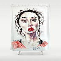 instagram Shower Curtains featuring Instagram 1 by artistathenawhite