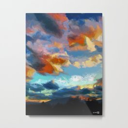 ASHOKAN SUNSET Metal Print