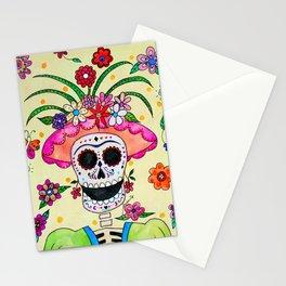 DIA DE LOS MUERTOS FRIDA CATRINA Stationery Cards