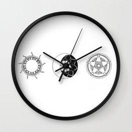 Sun Moon Star Mandalas Wall Clock