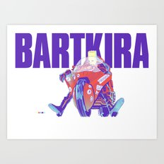 Bartkira on Motorcylce Art Print