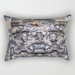 Ancient Grave Stone Greyfriars Kirk Graveyard Rectangular Pillow
