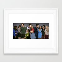 glee Framed Art Prints featuring Glee by weepingwillow