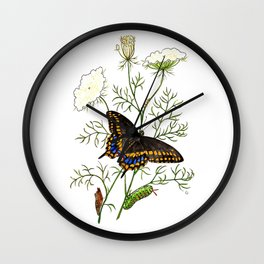 Black Swallowtail Wall Clock