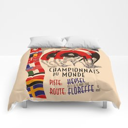 Retro cycling world championships 1935 Brussels Comforters