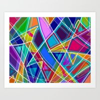 stained glass Art Prints featuring Stained Glass by gretzky