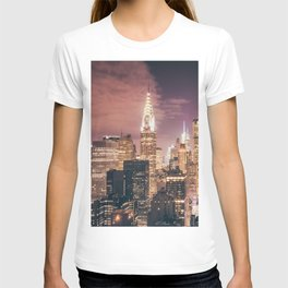 New York City - Chrysler Building Lights T-shirt