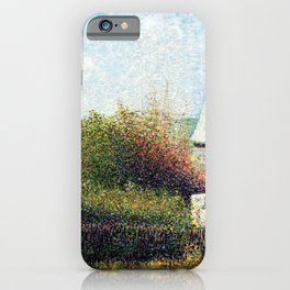 Georges Seurat - The Harbor Of Grandcamp - Digital Remastered Edition iPhone Case