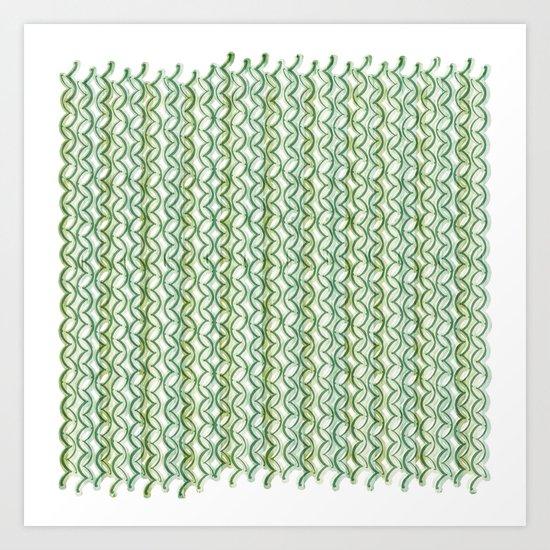 Knit Pattern Art Print
