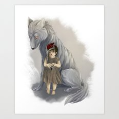 neither human nor wolf Art Print