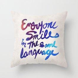 Everyone Smiles Throw Pillow