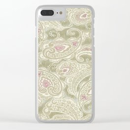 batik paisley warm Clear iPhone Case