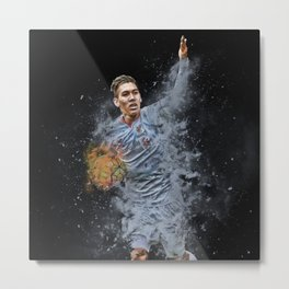 Liverpool FC: Roberto Firmino smoke design Metal Print