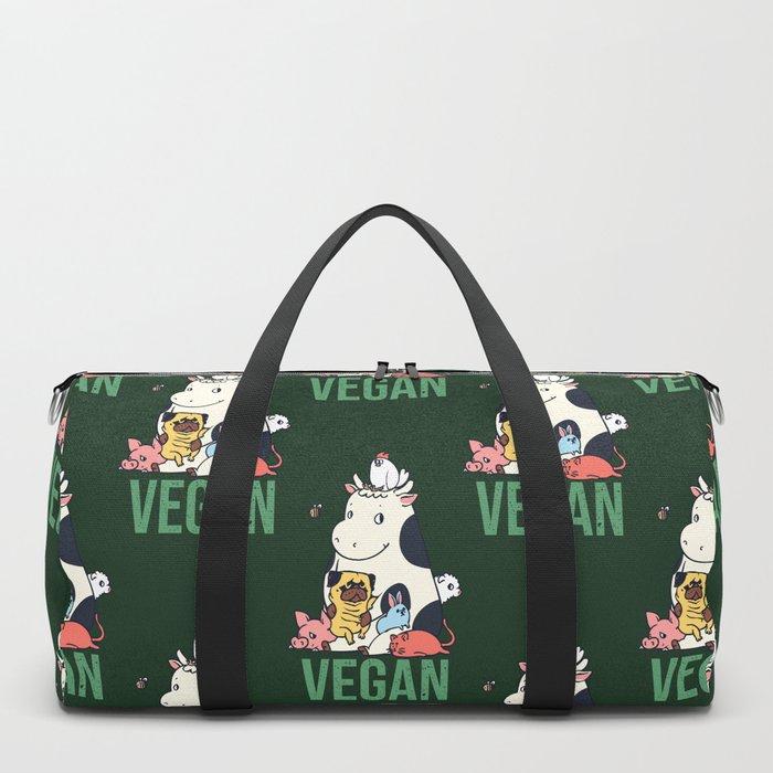 Pug and Friends Vegan Duffle Bag