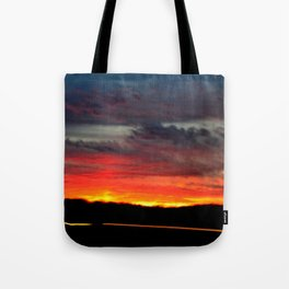 Night Lights Moving Sunset 21 Tote Bag