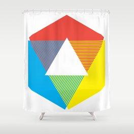 Color Wheel print, Color Chart Rainbow design by Christy Nyboer / Little Lark Shower Curtain