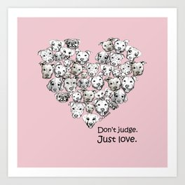Just Love. (black text) Art Print